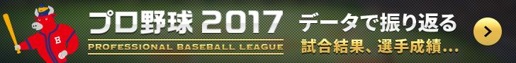 プロ野球データで振り返る2017
