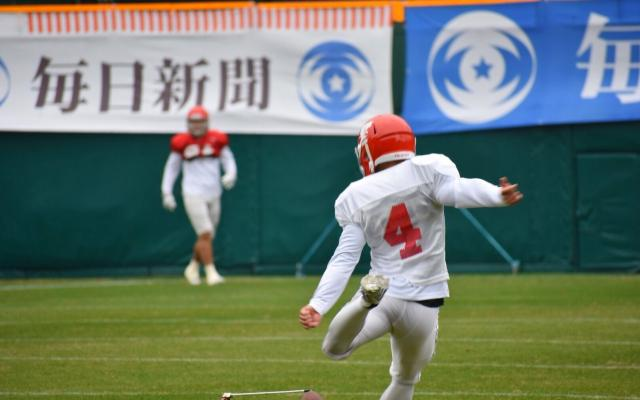 三菱電機杯第72回毎日甲子園ボウル〜日本大学記者会見及び甲子園球場練習