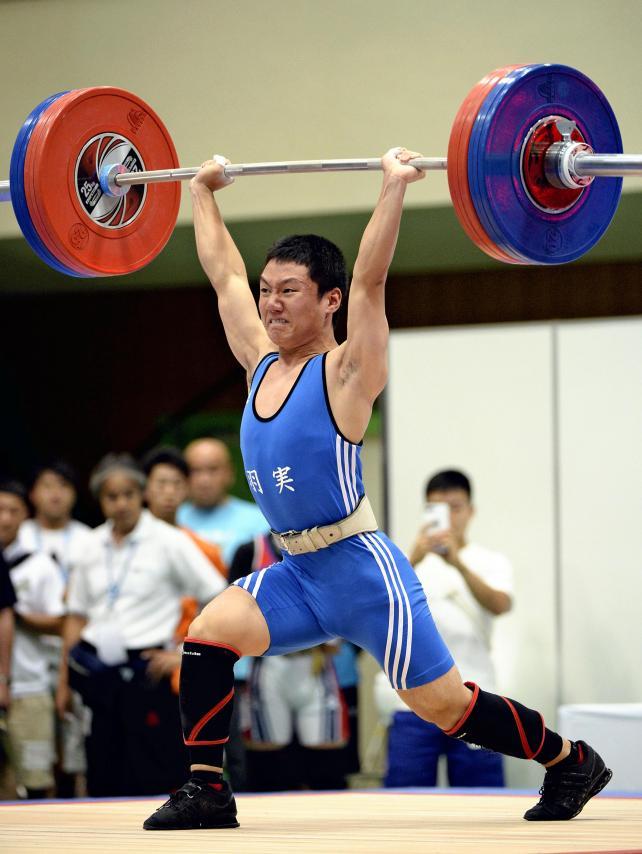 重量挙げ62キロ級で準優勝した羽生実の平井翔悟 ©読売新聞社