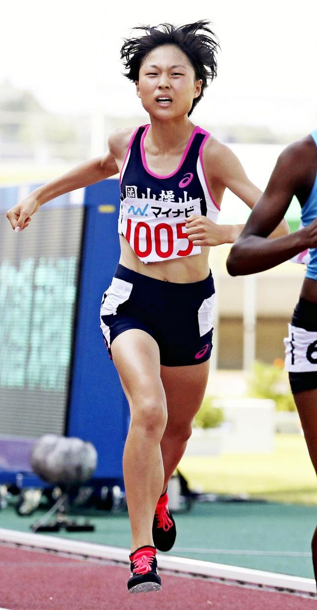 陸上女子1500メートルで3位になった岡山操山の金光由樹 ©読売新聞社