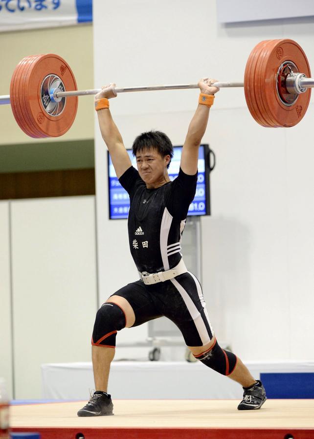 重量挙げ69キロ級 3位と健闘した柴田の天野佑真 ©読売新聞社