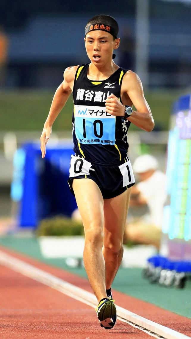 陸上男子5000メートル競歩で優勝した龍谷富山の柳橋和輝 ©読売新聞社