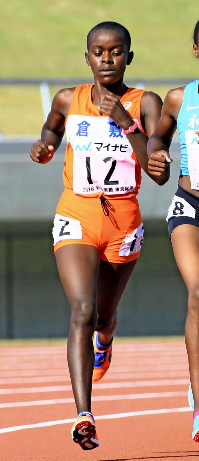 陸上女子3000メートルで2位に入った倉敷のアグネス・ムカリ ©読売新聞社