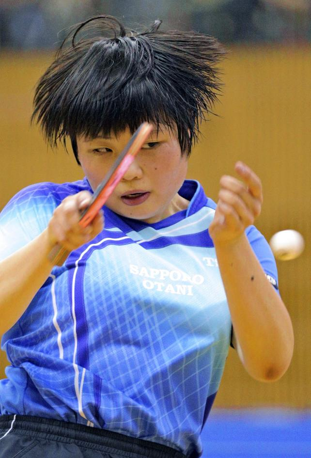 卓球女子シングルスで3位になった札幌大谷の高山結女子 ©読売新聞社