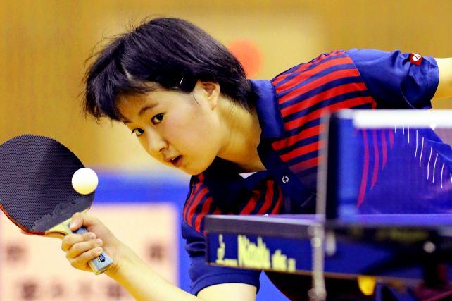 卓球女子シングルスで3位になった遊学館の相馬夢乃 ©読売新聞社