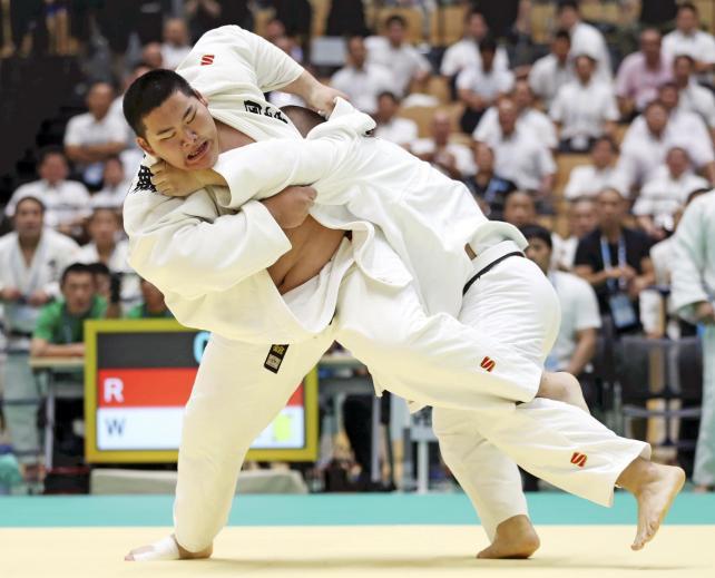 柔道男子団体で準優勝した国士舘の斉藤立 ©読売新聞社