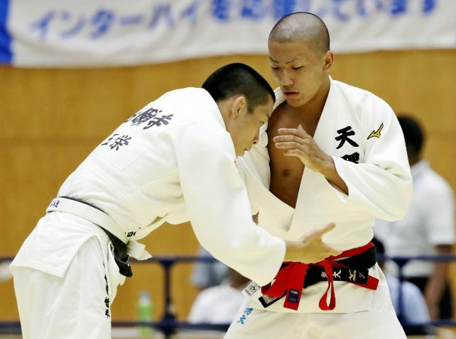 柔道男子66キロ級で3位になった天理の辺川湧大 ©読売新聞社