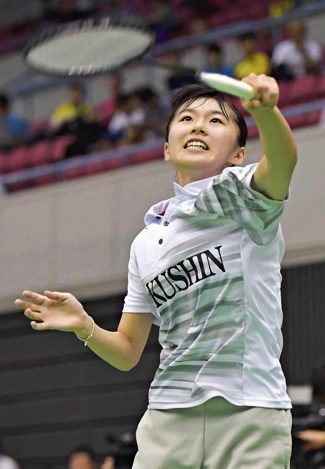 バドミントン女子シングルスで準優勝した作新学院の佐川智香 ©読売新聞社