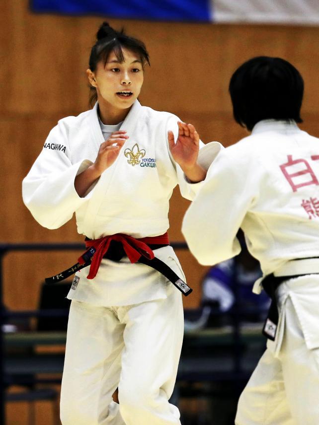 柔道女子48キロ級で3位になった横須賀学院の渡辺愛子 ©読売新聞社