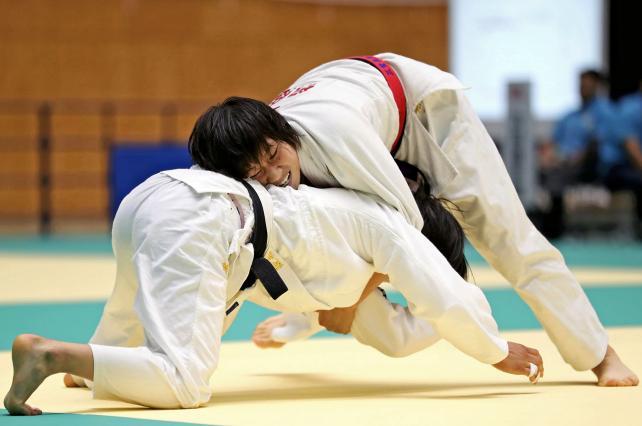 柔道女子団体で3位になった桐蔭学園の野沢知莉 ©読売新聞社