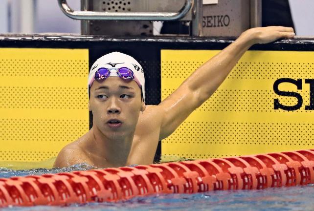 競泳男子400メートル自由形で優勝した日大豊山の吉田啓祐 ©読売新聞社