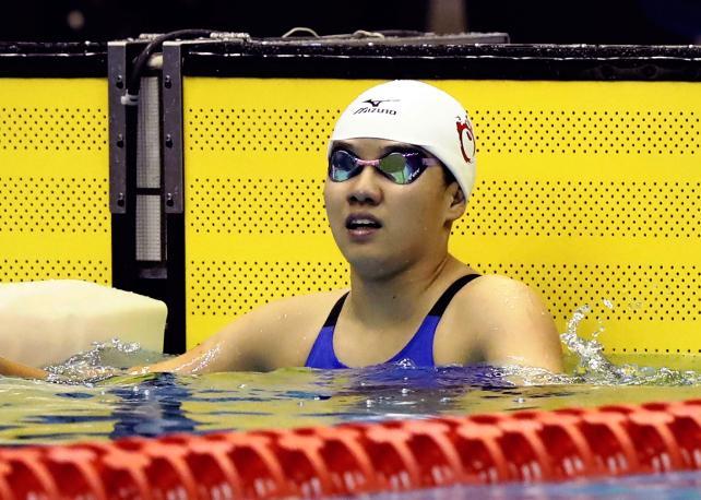 女子50メートル自由形で3位になった豊川の土井香凜 ©読売新聞社
