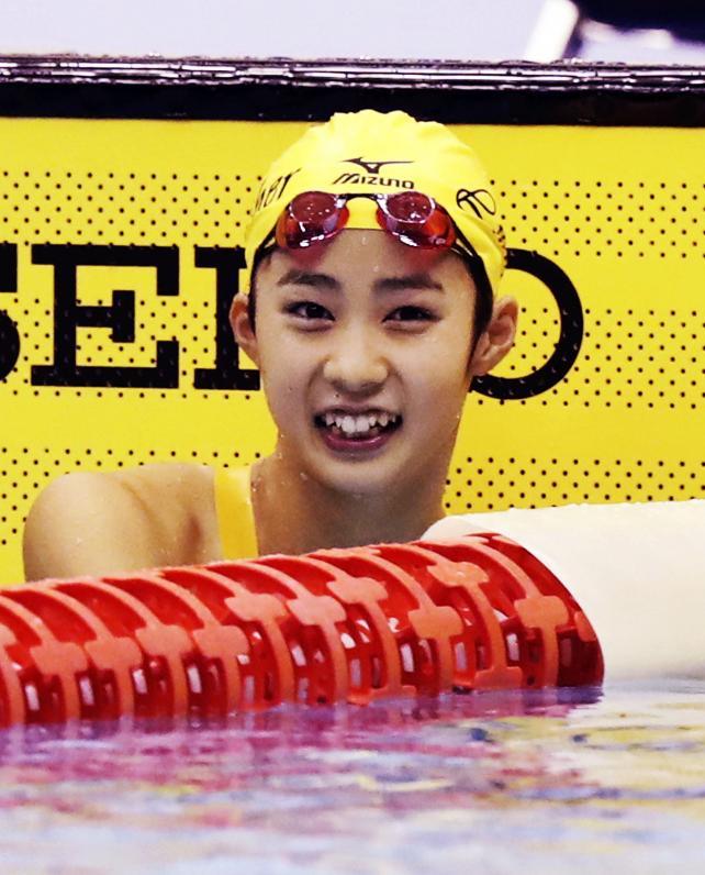 女子50メートル自由形で準優勝したルーテル学院の田上舞美 ©読売新聞社