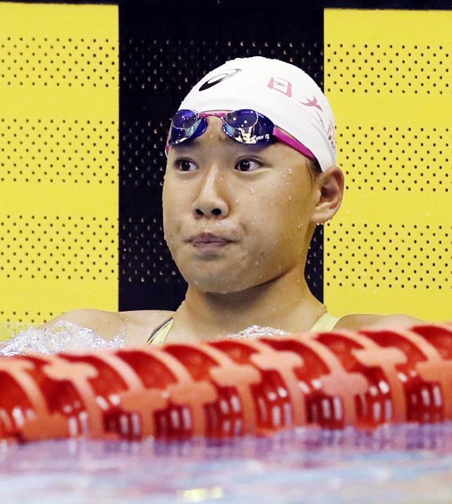 競泳女子50メートル自由形で優勝した日大藤沢の大内紗雪 ©読売新聞社