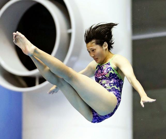 女子板飛び込みで6位入賞した愛工大名電の若林佑希子 ©読売新聞社