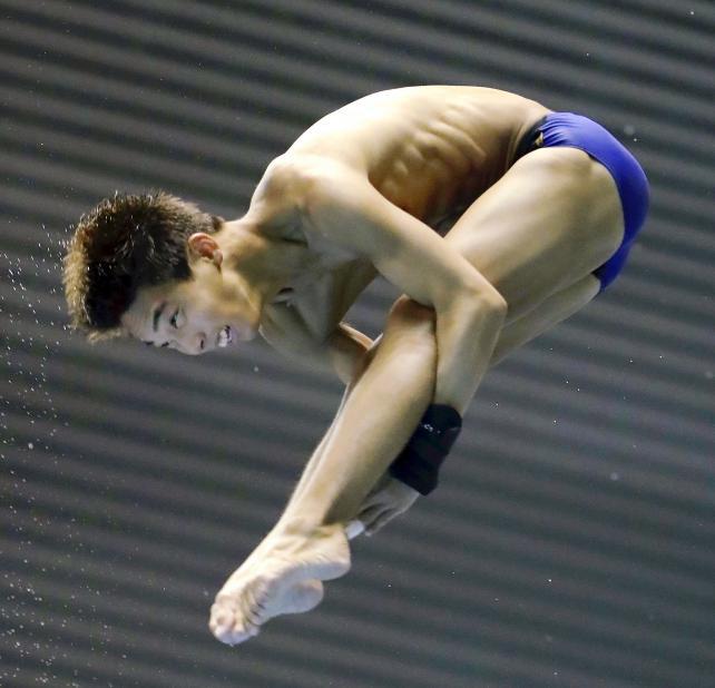 男子高飛び込みで8位入賞した別府翔青の山本馨 ©読売新聞社