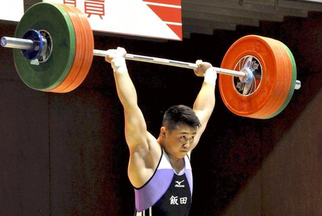 重量挙げ81キロ級を制した飯田の宮下一樹選手