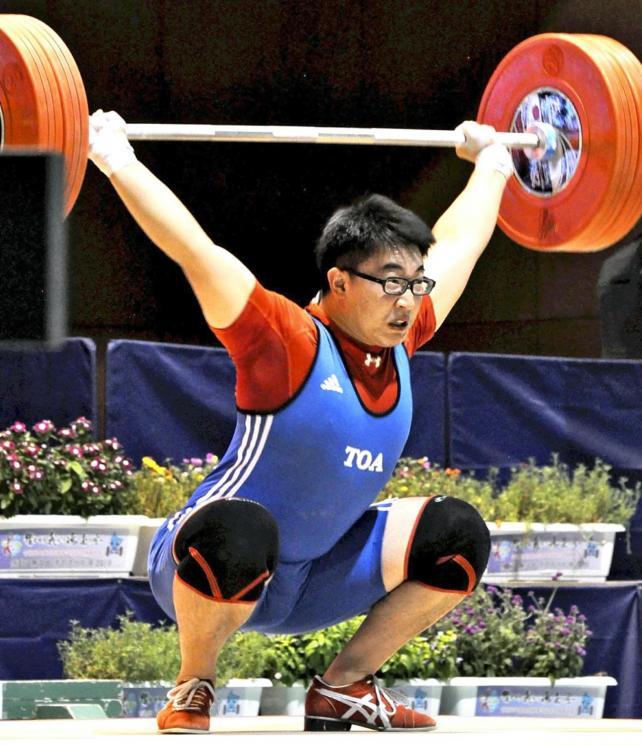 重量挙げ89キロ級を制した東亜学園の田宮翼選手