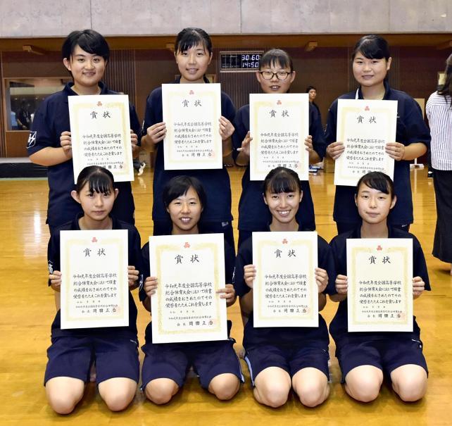 少林寺拳法 団体演武女子で6位入賞を果たした都城