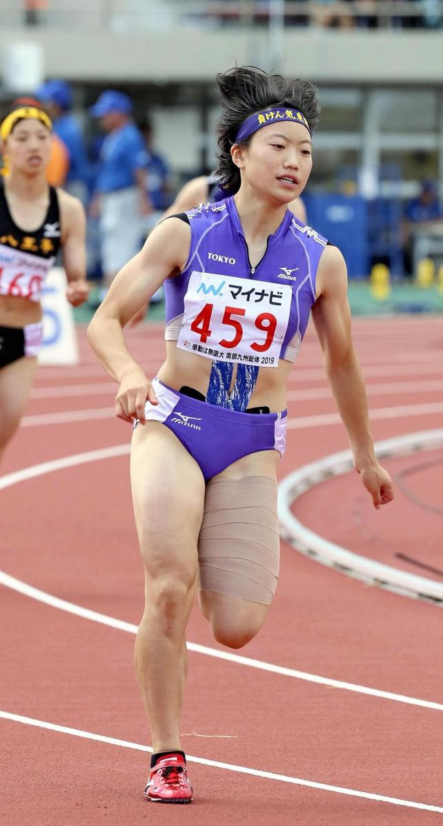 女子400メートルで3位になった東京の須藤美桜選手