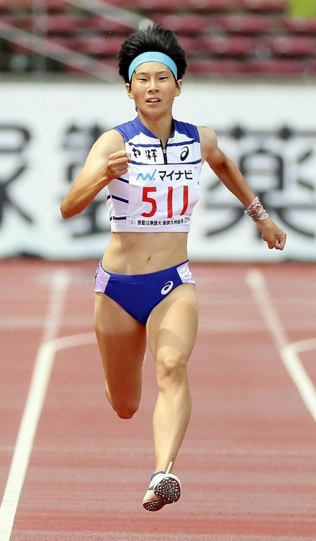 女子200メートルで準優勝した相洋の高島選手
