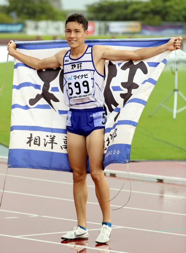 男子800メートルで優勝した相洋のクレイ・アーロン竜波選手