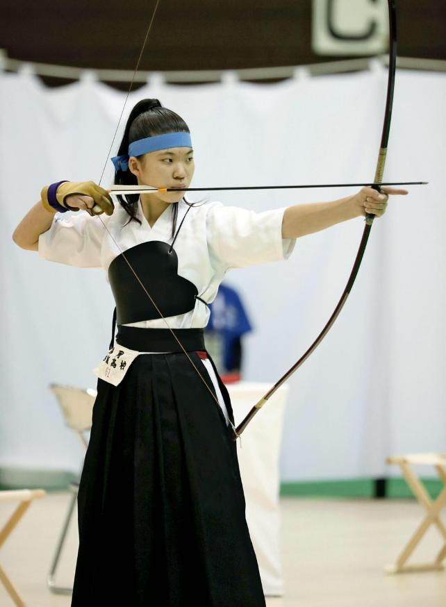 弓道女子個人で3位になった祐誠の大石選手