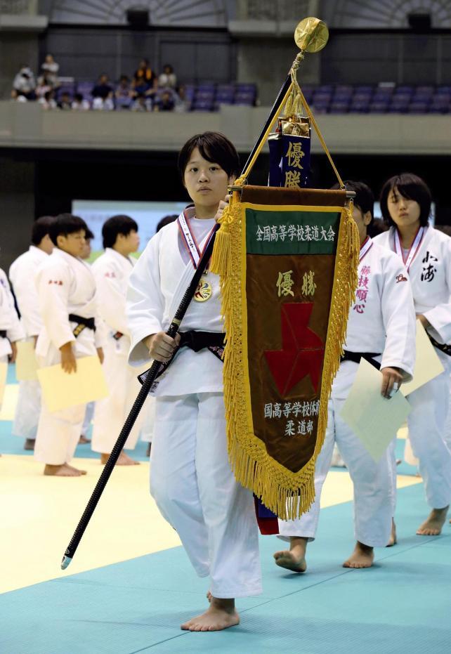 柔道女子70キロ級で優勝した桐蔭学園の朝飛選手