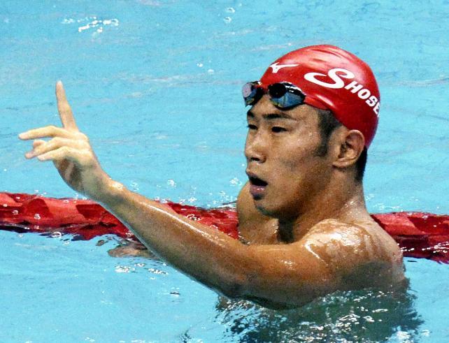 100メートル自由形で大会新記録で優勝した大分・別府翔青の田中大寛選手