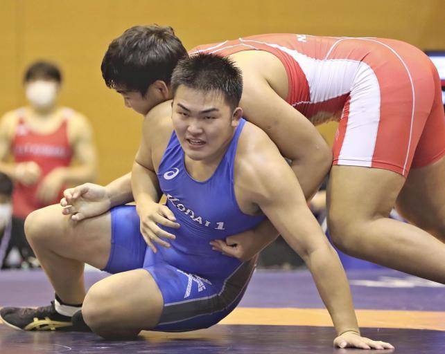 レスリング男子125キロ級3位の八戸工大一・永野颯大選手(下)