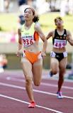 陸上女子400メートルで2位になった西京の吉岡里奈 ©読売新聞社