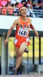 陸上男子100メートルで2位になった宮崎北の桑野拓海 ©読売新聞社