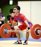 重量挙げ53キロ級で3位になった小林の中武涼 ©読売新聞社