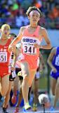 陸上男子1500メートルで2位になった佐野日大の樋口翔太 ©読売新聞社
