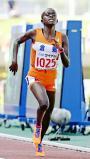 陸上女子1500メートルで優勝した倉敷のアグネス・ムカリ ©読売新聞社