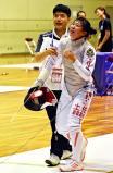 フェンシング女子フルーレで初優勝を飾った聖霊女短大付の土佐千乃 ©読売新聞社