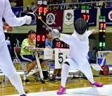 フェンシング女子エペで惜しくも2位となった乙訓の寺山珠樹 ©読売新聞社