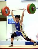 重量挙げ85キロ級で準優勝した吉田の持田慶貴 ©読売新聞社