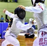 フェンシング女子団体で優勝した和歌山北の森田明日香主将 ©読売新聞社
