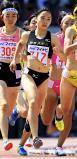 陸上女子800メートルで2位に入った中京大中京の細井衿菜 ©読売新聞社