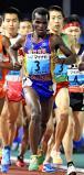 陸上男子5000メートルで2位に入った仙台育英のルカ・ムセンビ ©読売新聞社