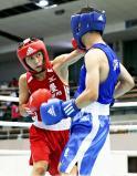 ボクシングピン級で優勝した鹿屋工の荒竹一真 ©読売新聞社