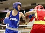 ボクシングバンタム級で優勝した伊勢崎工の吉田黎斗 ©読売新聞社