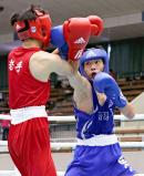 ボクシングフライ級で優勝した崇徳の梶原嵐 ©読売新聞社