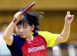 卓球女子シングルスで準優勝した四天王寺の塩見真希 ©読売新聞社