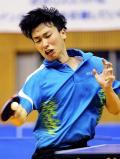 卓球男子シングルス準決勝で健闘した大原学園の金光宏暢 ©読売新聞社