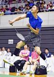 バドミントン男子シングルスで3位になった福工大福井の服部正輝 ©読売新聞社