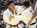 柔道男子100キロ超級で優勝した国士舘の斉藤立 ©読売新聞社