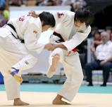 柔道女子57キロ級で準優勝した名張の堂崎月華(右) ©読売新聞社