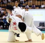 柔道女子78キロ超級で優勝した帝京の高橋瑠璃 ©読売新聞社